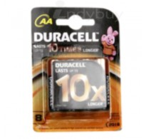 Duracell Batteries - 10x (AA), 8 nos Pouch