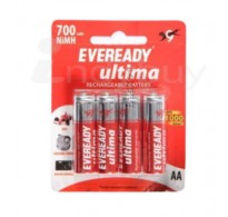 Eveready Rechargeable Battery - Ultima (AA, 700 mAh), 4 nos Pouch