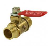 "1/4"" Male Thread Pneumatic Ball Valve Plastic Coated Handle"