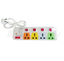 Cona Smyle Viva Power Strip 1.75 Meter with 4 sockets and 4 switches