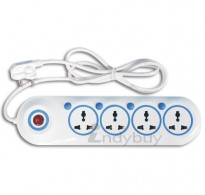 Extension Cord 4 Outlets & 4 Individual Switches with 1.5mtrs Wire