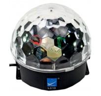 J M Disco DJ Lighting Crystal Magic Ball Light Laser Rotation Stage Lamp 05 - 20W