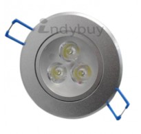 3w Led Round Downlight, White 6500k with driver