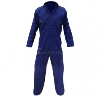 Boiler suit Protective coverall Factory Workers Dress Industrial Uniform Blue