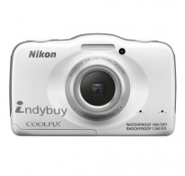 Nikon 13.2 MP Point and Shoot Camera (White) with 4GB Card