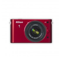 Nikon 1 J1 10-30VR 10.1MP Digital SLR Camera (Red) with 4GB Card