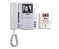 Zicom Black and white Video Door Phone with Handset - 4 inch
